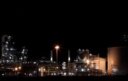 Industry at night. In the netherlands royalty free stock photos