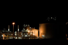 Industry at night. In the netherlands royalty free stock photo