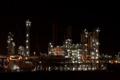 Industry at night. In the netherlands stock photography
