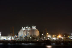 Industry at night Stock Photography
