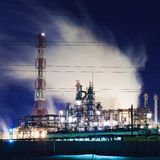 Industry by night Stock Image