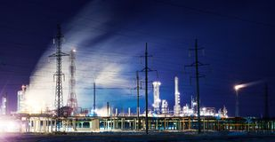 Industry by night Stock Photography