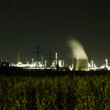 Industry At Night. Industry (refinery) at night with many lights Royalty Free Stock Image