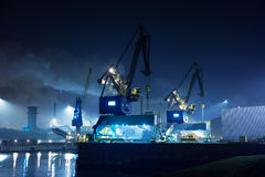Industry at night. (ijmuiden Netherlands Stock Image
