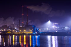 Industry at night Stock Images