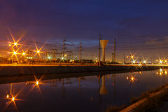 Industry Night Stock Photo