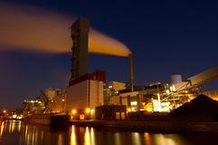 Industry at night Royalty Free Stock Photography