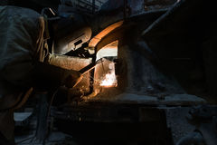 Industry. Photo of professional welder at work Royalty Free Stock Photo