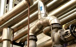 Industry pipes and industry systems. Concept Stock Image