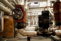Industry pipes and industry systems. Concept Royalty Free Stock Photo