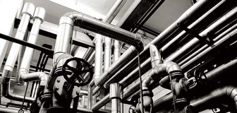 Industry pipes and industry systems Royalty Free Stock Photography