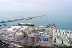 Industry plant near sea Royalty Free Stock Image