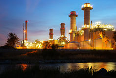 Industry power plant and river Stock Photos