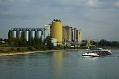 Industry On The Rhine Stock Photography