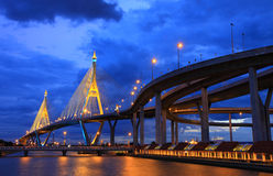 Industry Ring Suspending bridge Bangkok, Thailand Stock Photos