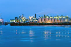 Industry at the river Elbe Stock Images
