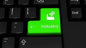 35. Industry Rotation Motion On Computer Keyboard Button. vector illustration