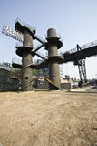 Industry ruin royalty free stock photo
