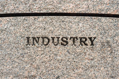 Industry sign Stock Images