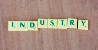 Industry sign Stock Photo