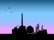 Industry silhouette vector Stock Images