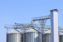 Industry silo for starage goods and material Stock Photography