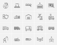Industry sketch icon set. Stock Images