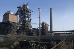 Industry skyline. Steel industry detail in germany Royalty Free Stock Photography