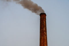 Industry Smoke Pollution From Factory Royalty Free Stock Images