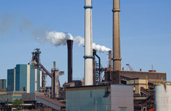 Industry with smoking chimneys Royalty Free Stock Photography