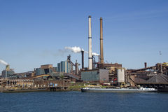 Industry with smoking chimneys Royalty Free Stock Images