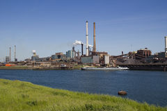 Industry with smoking chimneys Stock Photo