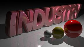 Industry with spheres Royalty Free Stock Photography