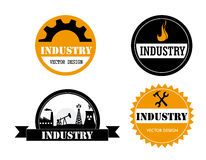 Industry stickers Royalty Free Stock Images