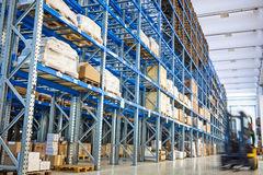 Industry Storehouse Forklift royalty free stock photo