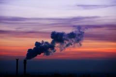 Industry sunset Stock Photo