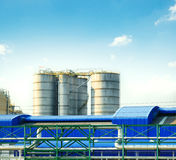 Industry tank storage in heavy industrial estate plant Stock Photos