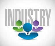 Industry team sign illustration design graphic Stock Image
