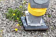 Industry tool plate compactor jumping jack Royalty Free Stock Photos