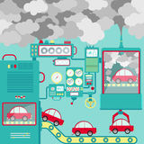 Industry and traffic pollution Stock Images
