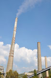 Industry, two tall chimneys Royalty Free Stock Photo