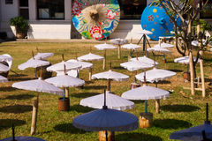Industry umbrella. Do not finish a lot of umbrella royalty free stock image
