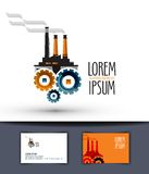 Industry vector logo design template. factory or Royalty Free Stock Photography