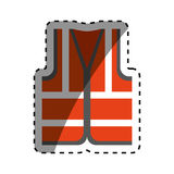 Industry vest isolated. Icon  illustration graphic design Royalty Free Stock Photos