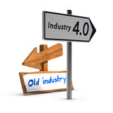 Industry 4.0 vs Old Industry Stock Image