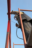 Industry, welding at construction site Stock Photography