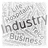 Industry ,Word cloud art background Royalty Free Stock Image