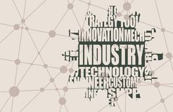 Industry word cloud concept Royalty Free Stock Photo