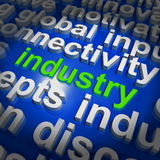 Industry Word Cloud Shows Industrial Workplace Or Manufacturing Royalty Free Stock Photos
