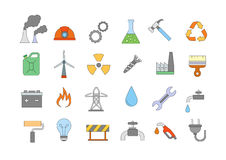 Industry & work colorful icons set. Set of 24 Industry & work colorful icons Royalty Free Stock Image